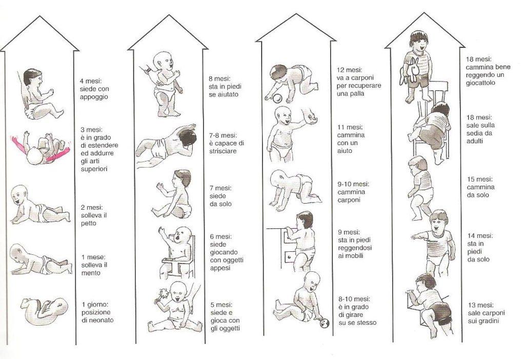 I movimenti fondamentali del bambino